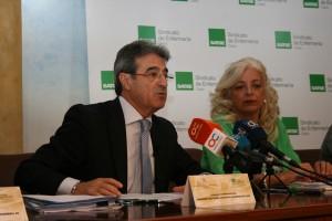 2.Rafael Campos pte. colegio de enfermeria y Carmen Dominguez secretaria SATSE